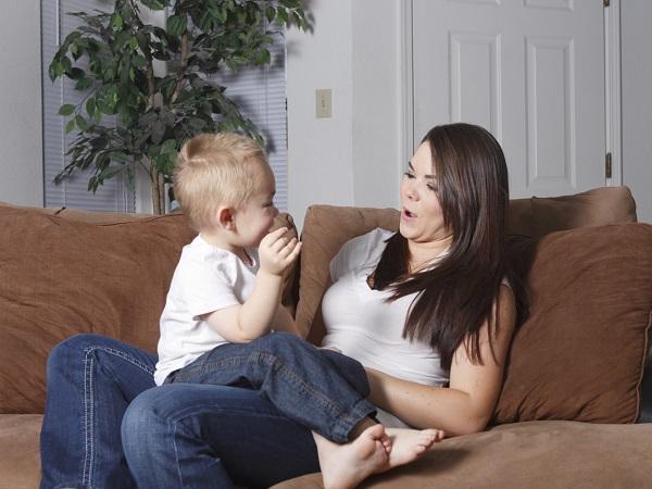 Eine Mutter und ihr Kind