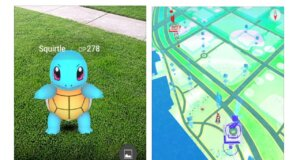 Screenshot der neuen Game App Pokemon Go