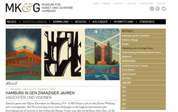 """Noch bis Ende Oktober im MKG zu sehen: """"Hamburg in den zwanziger Jahren"""""""