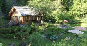 Garten mit Ziergräsern