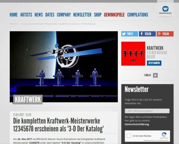 """Alterswerk: Kraftwerks """"3-D Der Katalog"""""""